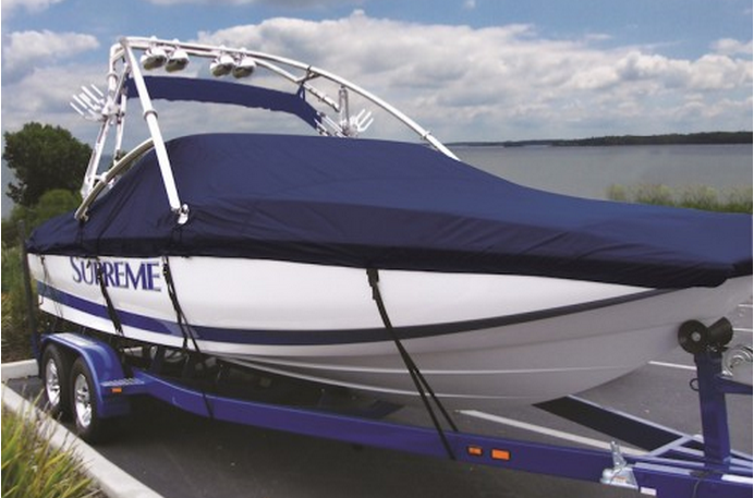Boat with Fabric Cover